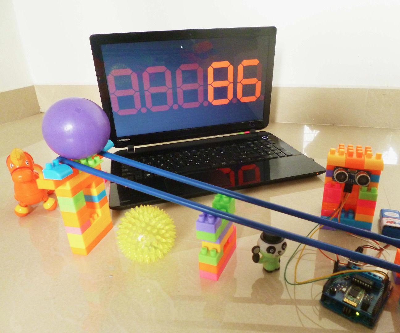 Fun counter with Bluetooth and Ultrasonic Sensor
