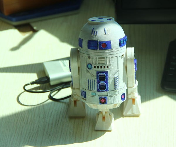 HI R2D2! -- Make a 3D Print Talking R2D2 Robot