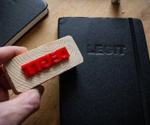使用3D打印定制浮雕笔记本