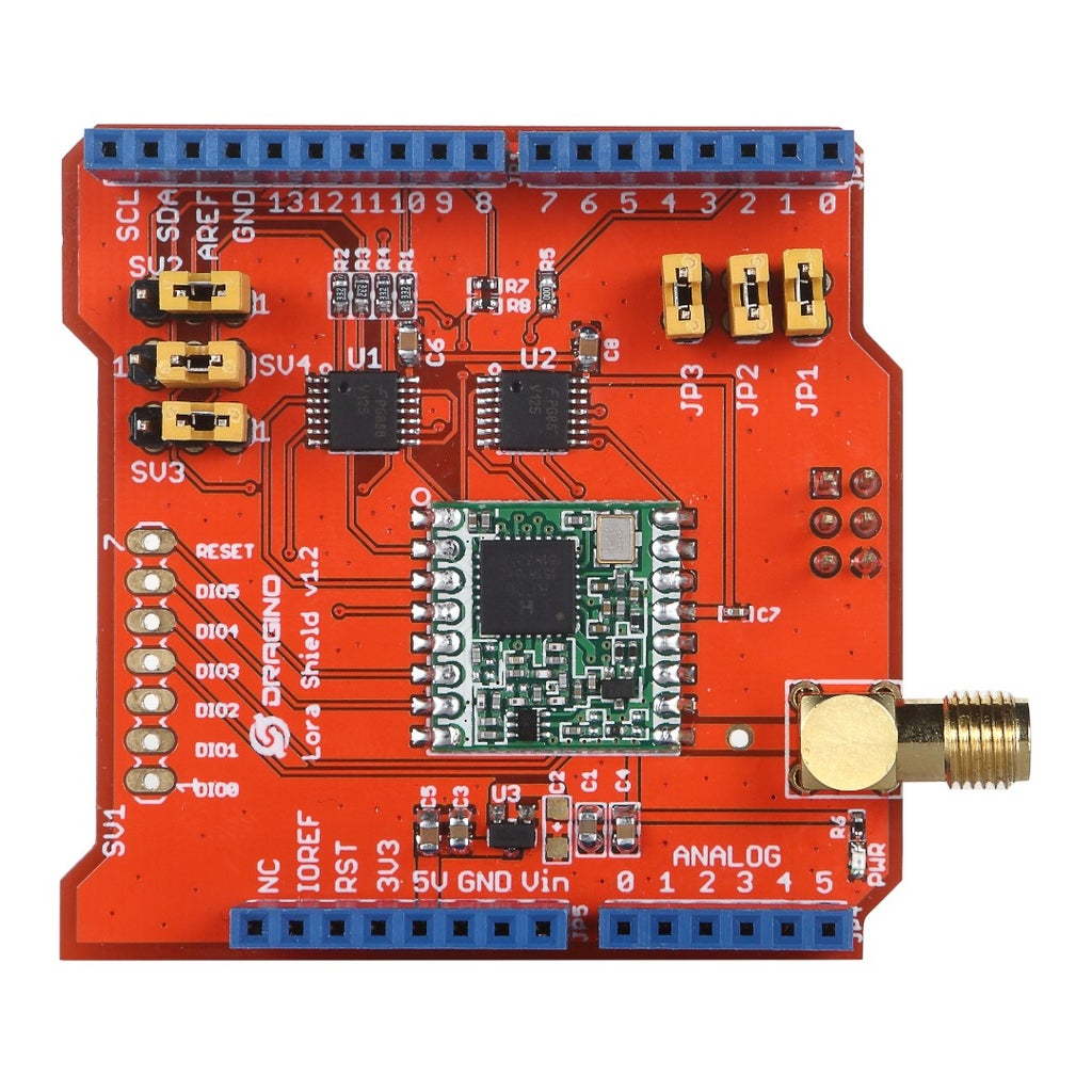 A Brief Introduction of the Dragino Lora Shield and the Ttn Network