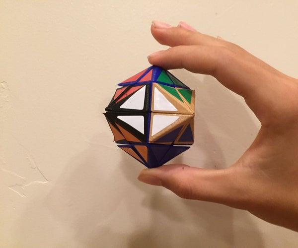 "3D Printed ""Rhombiminx"" Twisty Puzzle"