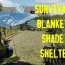 Refugio de sombra de manta de supervivencia