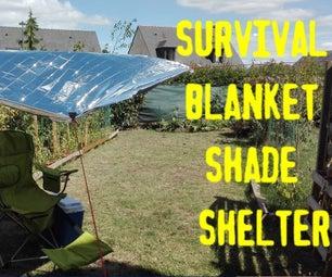 Survival Blanket Shade Shelter