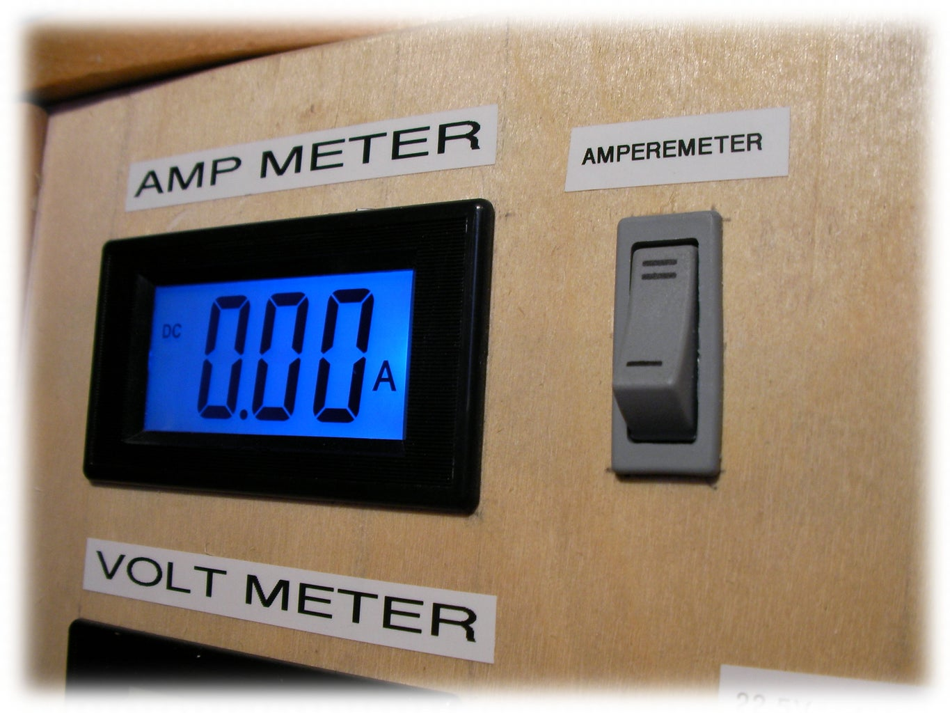 Fitting the Voltmeter and Ammeter