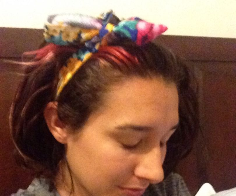 Headbands out of old dress