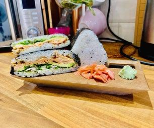 寿司三明治和烤三文鱼
