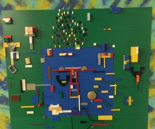 简单的乐高墙为Makerspace或教室