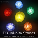 Easy Infinity Stones Made of Hot Glue