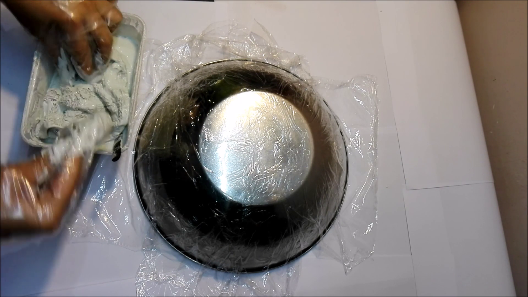Bowl Making With White Cement