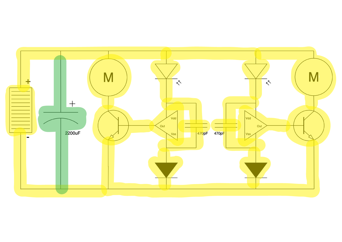 Freeforming the Circuit 13: Connecting the Storage Capacitor