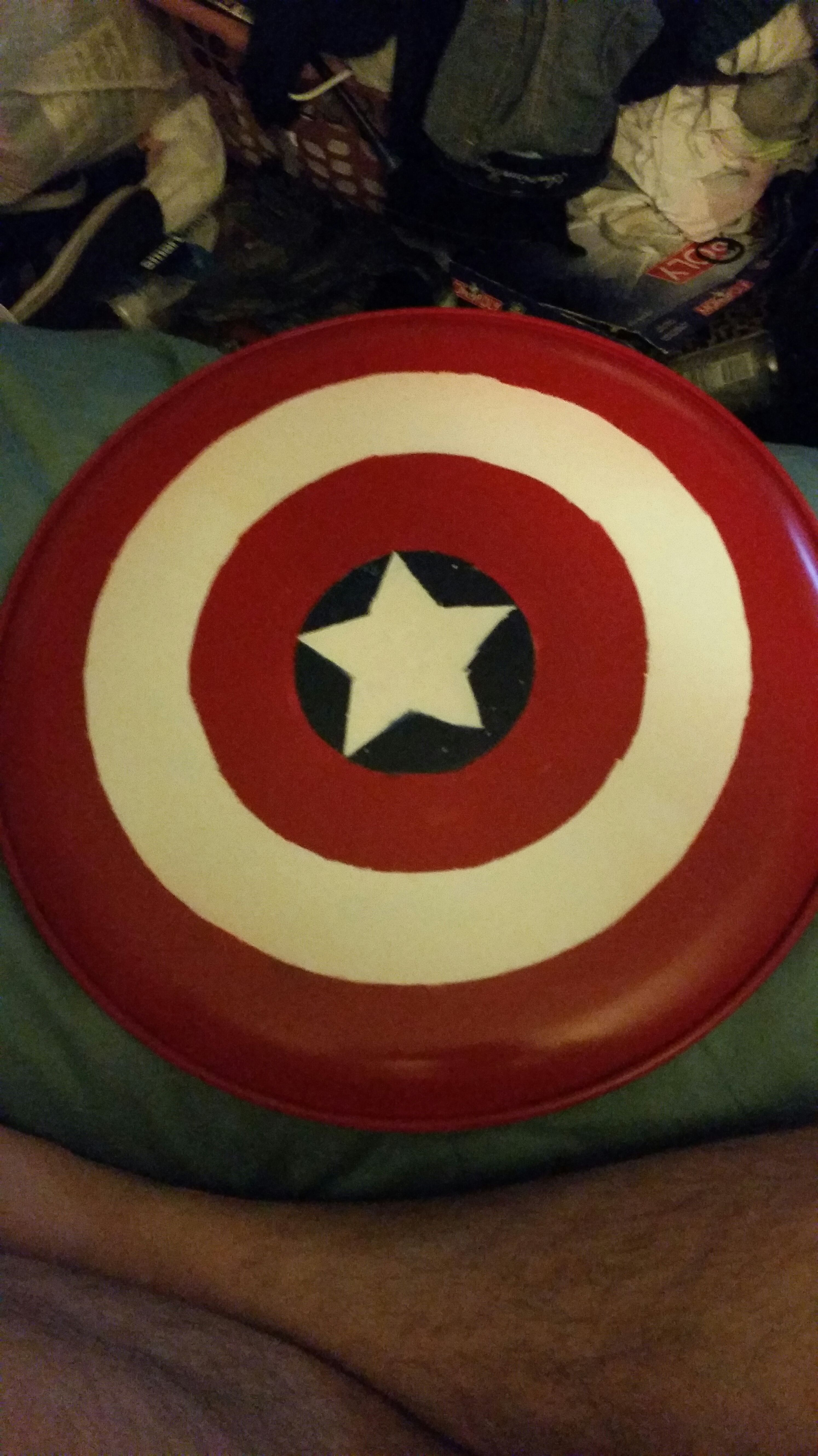 How To Make A Homemade Captain America Shield Under 15 7 Steps Instructables