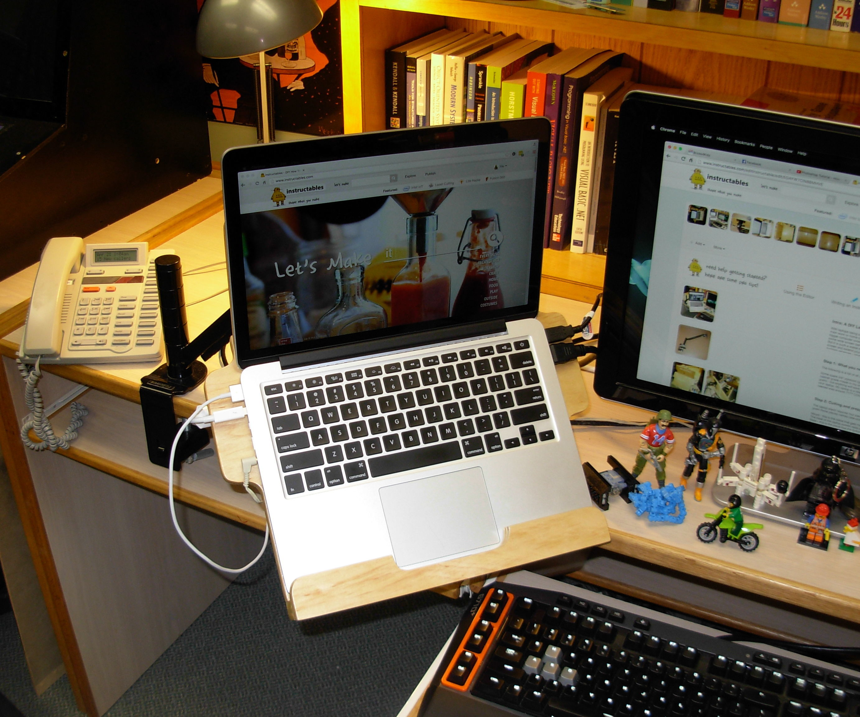 A DIY Laptop Rack
