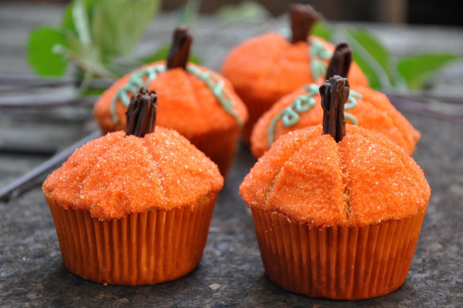 Pumpkin Top Cupcakes