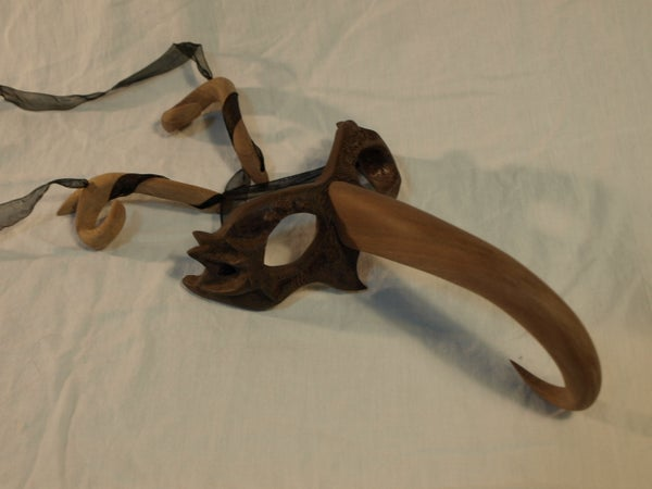 Inspired Wooden Plague Doctor Mask