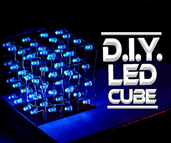 How to Make a 4x4x4 L.E.D. Cube With Leftover LEDs