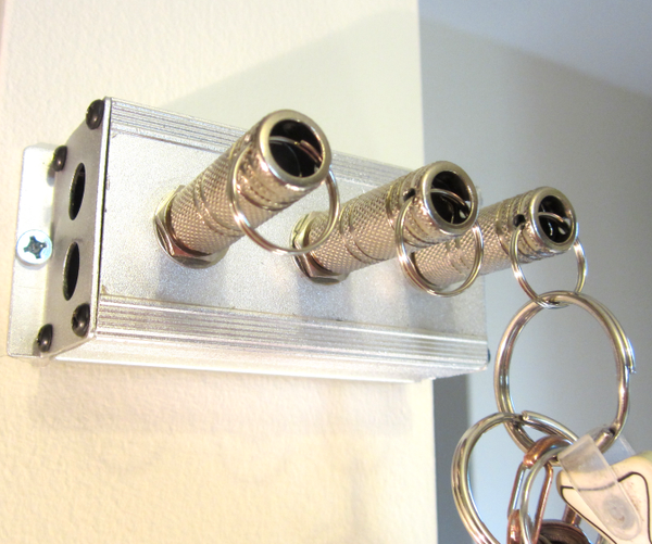 DIY Audio Jack Key Holder
