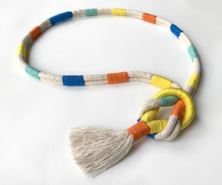 Colorful Rope Macrame Knot Necklace With Tassel