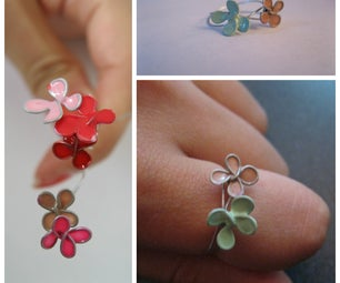 """""""Stained Glass"""" Flower Ring"""