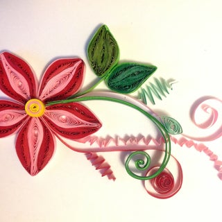 Gorgeous 3D Quilled Flowers and Leaves From Scratch!