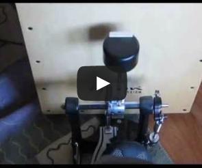 The Hacksaw Blade - Cajon Kick Pedal Adapter