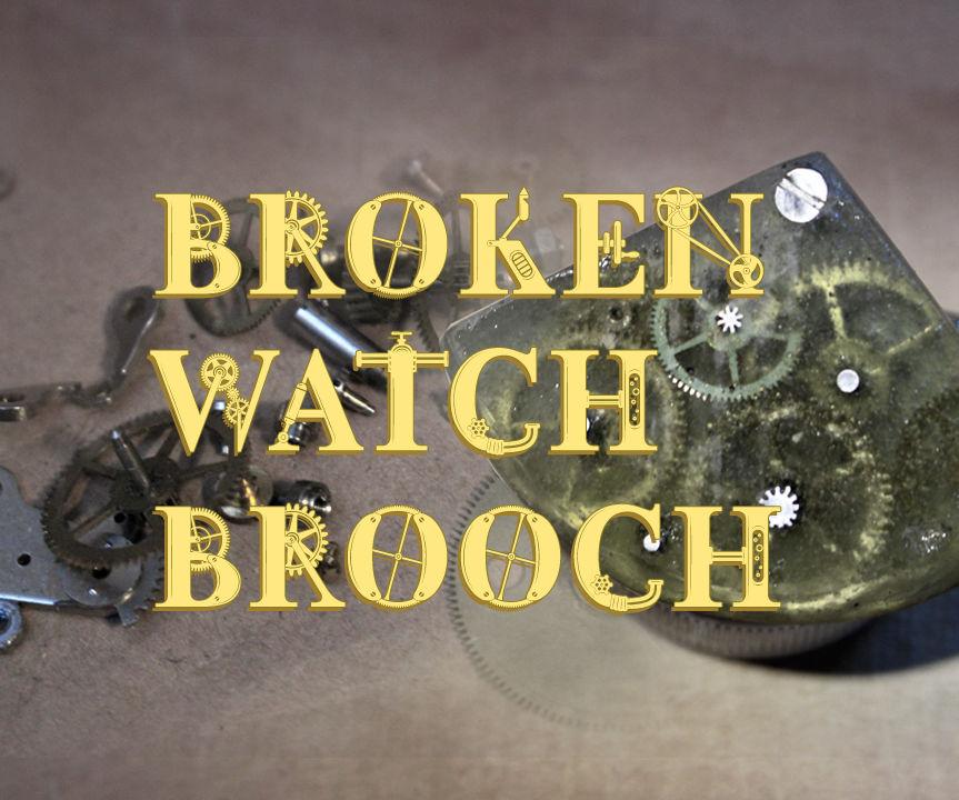 Broken Watch Brooch
