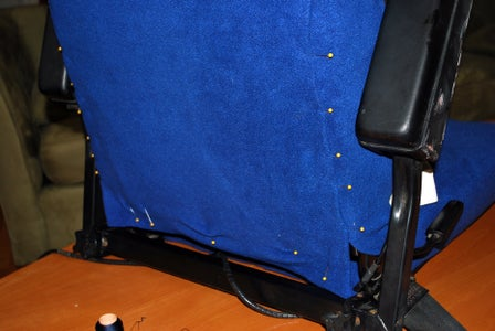 Final Pinning and Stitching the Seat Back