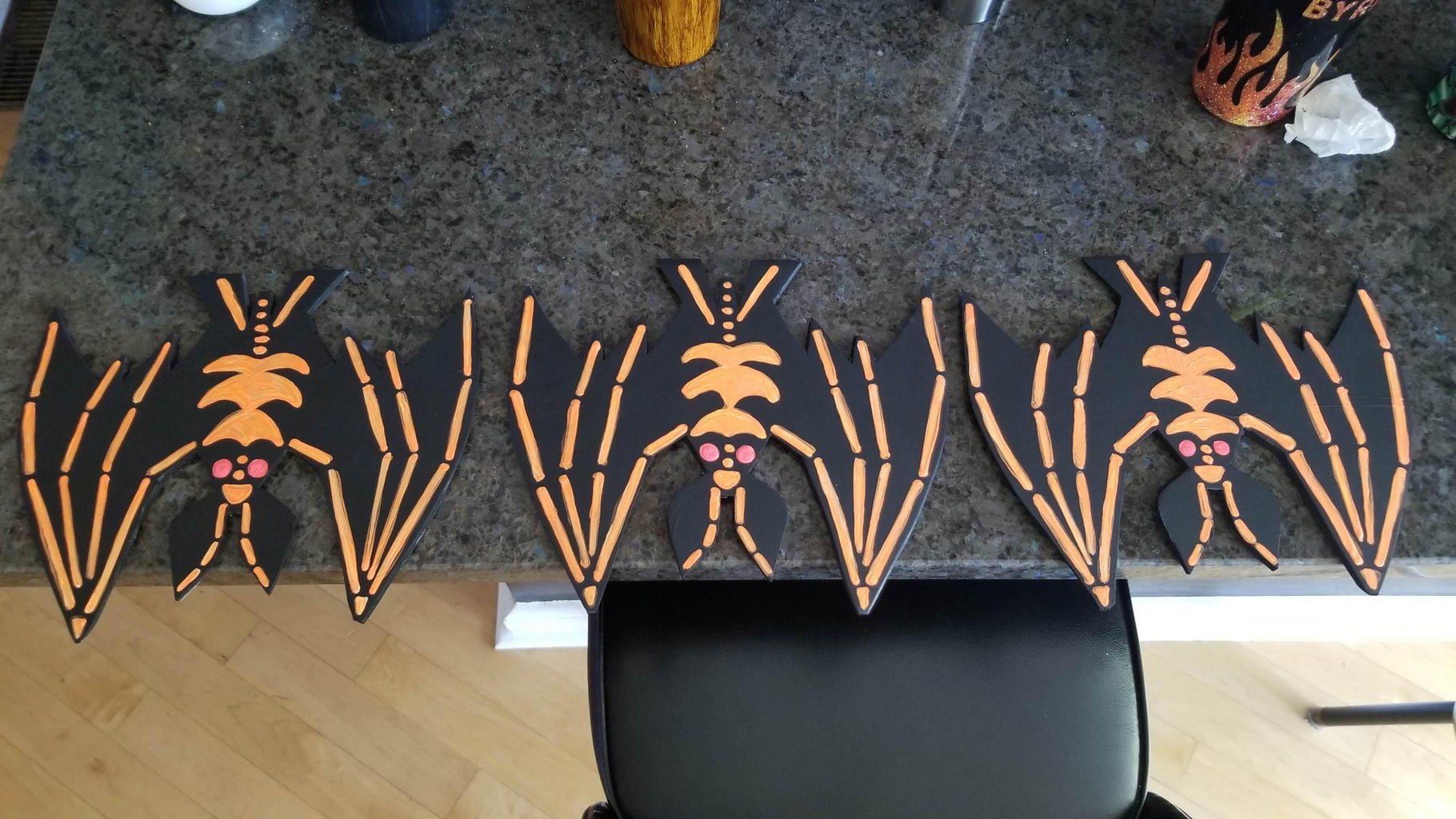 """How to Make Bats, Dice, """"Halloween Town"""" Sign, Jack-o-lanterns and Oogie's Boys"""