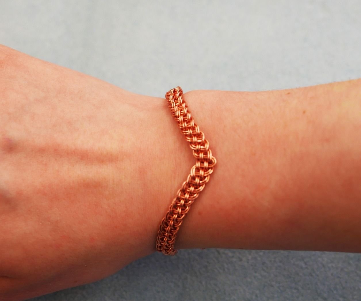 Adjustable Woven Copper Bracelet