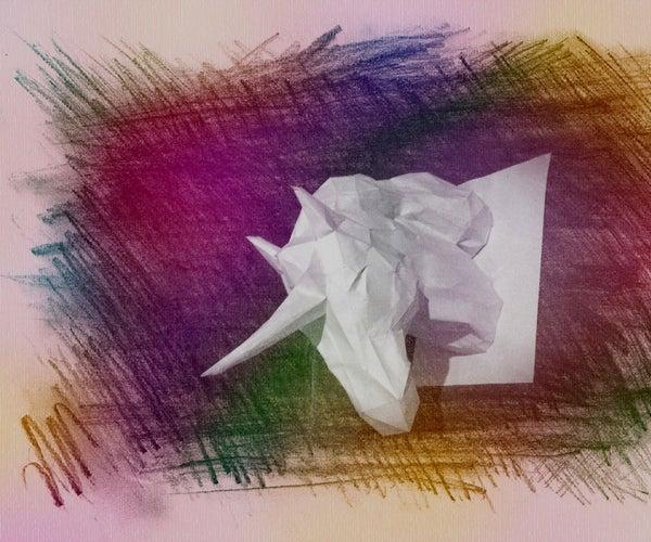 Wall Mountable Paper Unicorn
