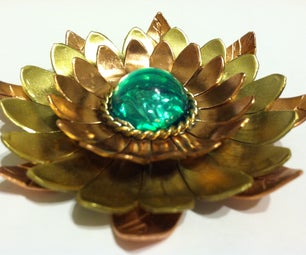 Large Flower Pendant/Brooch