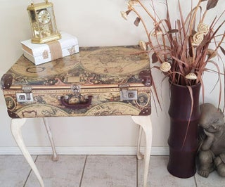 How to Make a Vintage Suitcase Table