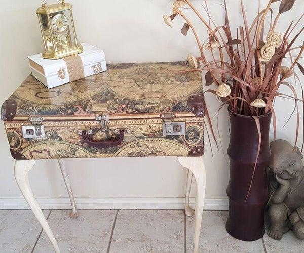 如何制作葡萄酒手提箱桌