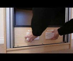 Secret Safe Compartment With Hidden Door and Magnetic Locks