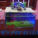 Fish Tank With a Mini Waterfall