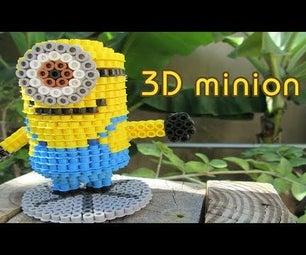 3D Minion | Bead Sprites (Perler/Hama Beads)