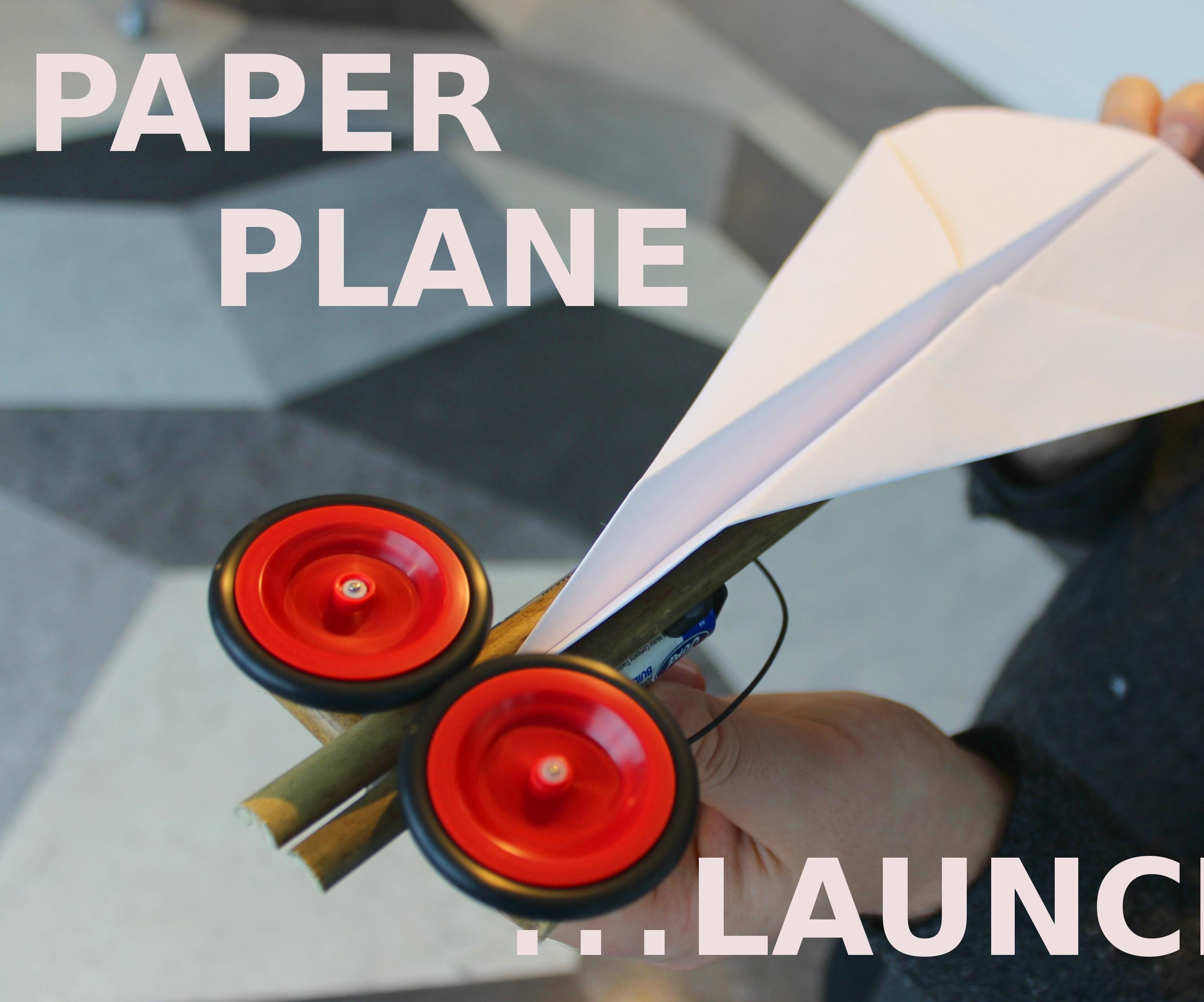 LET'S MAKE a PAPER PLANE LAUNCHER