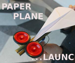 让我们做一个纸飞机发射器