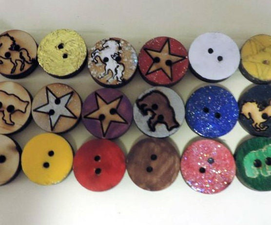 Buttons to Match Your NAIL POLISH