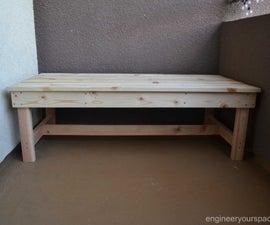 DIY Outdoor Bench