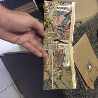 Comic Book Page Paper Wallet
