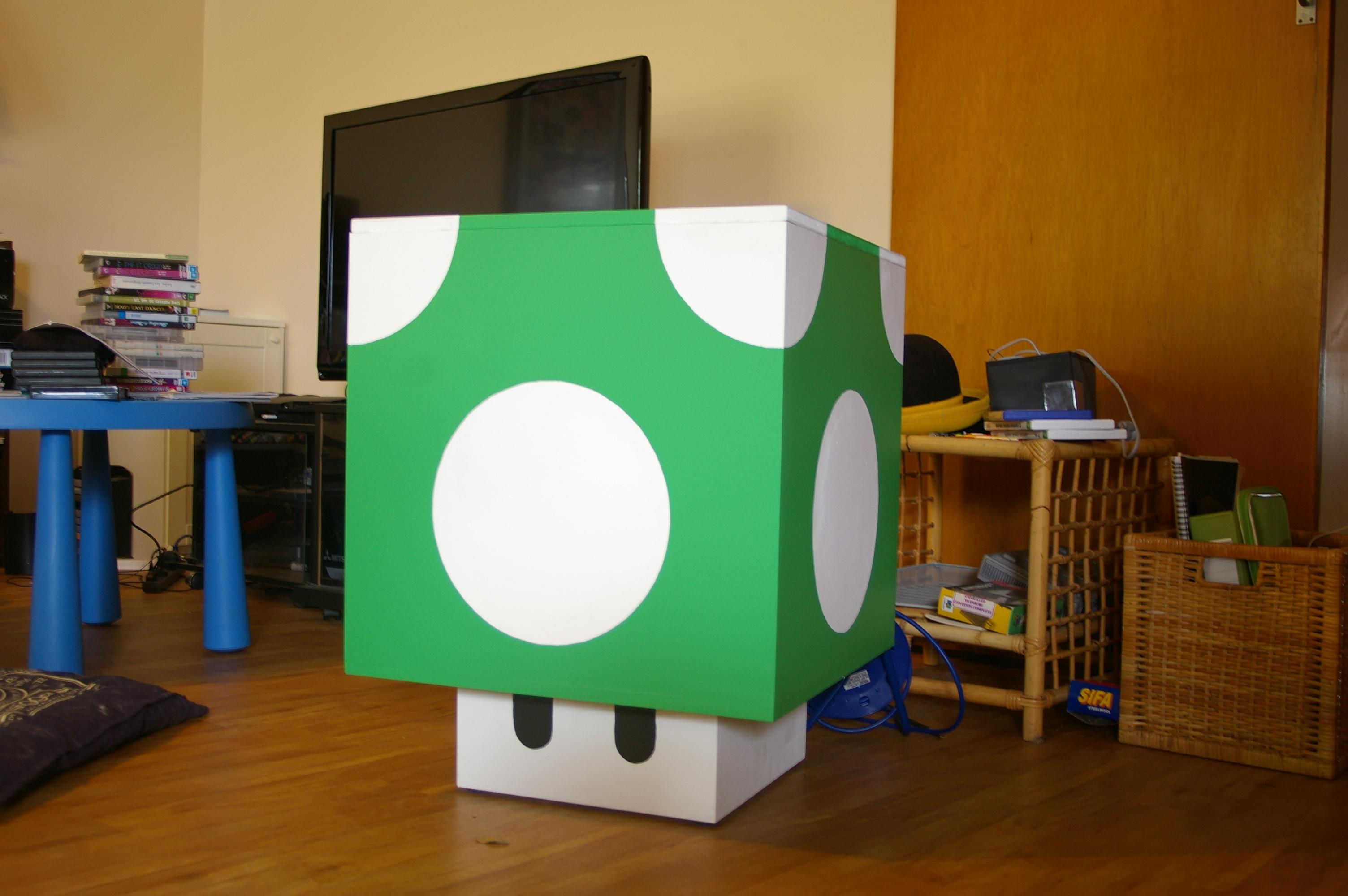 1up Mushroom Storage Cube