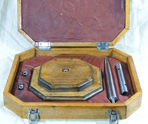 Hand-made Jeweller's Mandrel in Bespoke Presentation Box From Reclaimed Wood, Steel and Leather
