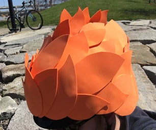 Bicycle Helmet Cover Feathers & Flames
