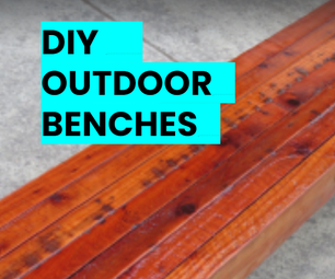 DIY Modern Wooden Benches