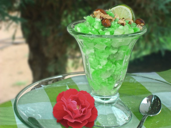 A Different Retro Lime Jell-O Salad