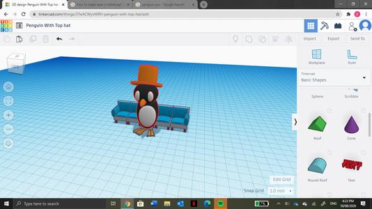 Tinkercad, Penguin