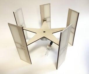 Pivoting Blades Vertical Axis Wind Turbine