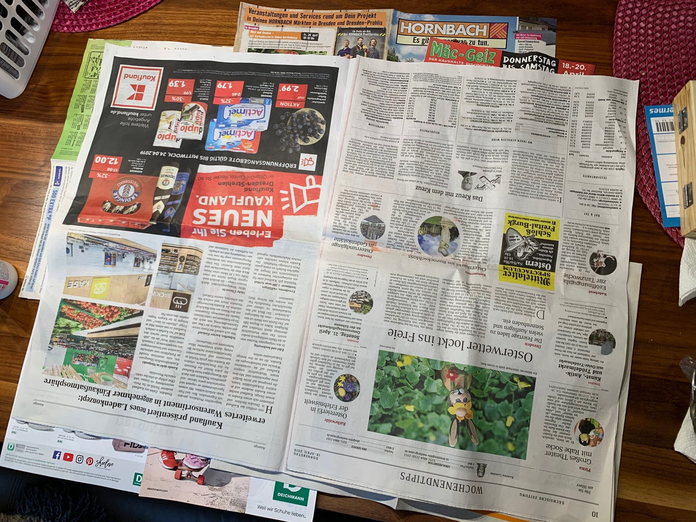 Lay Out Newspaper on the Table