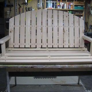 DIY Wooden Porch Swing