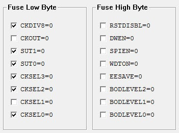 AtTiny85 Configuration Bits